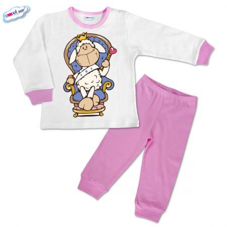 Детска пижамка Гергьовден в розово
