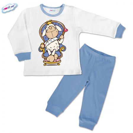 Детска пижамка Гергьовден в синьо