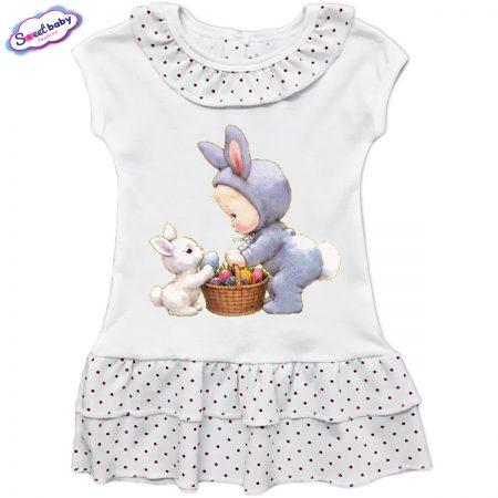 Детска рокличка с копченца Великденски яйчица