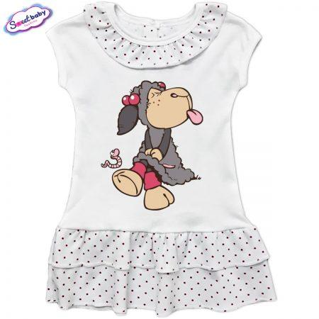 Детска рокличка с копченца Сърдитка
