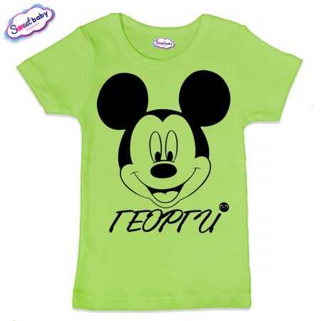 Детска тениска Георги М в зелено