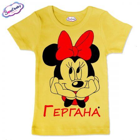 Детска тениска Гергана М в жълто