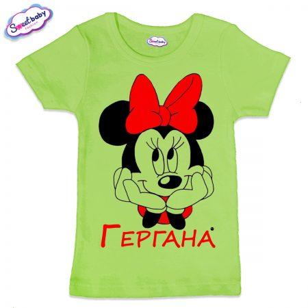 Детска тениска Гергана М в зелено
