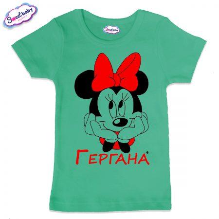 Детска тениска Гергана М в мента