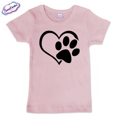 Детска тениска Лапичка в розово