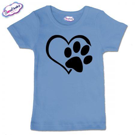 Детска тениска Лапичка в синьо