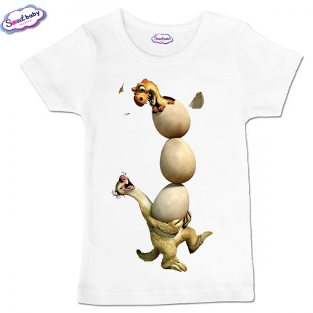 Детска тениска Сит с яйца бяло