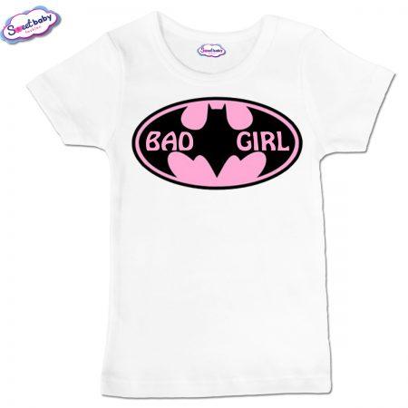 Детска тениска BadGirl в бяло