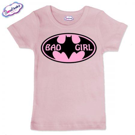 Детска тениска BadGirl в розово