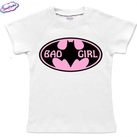 Детска тениска BadGirl с реглан ръкав