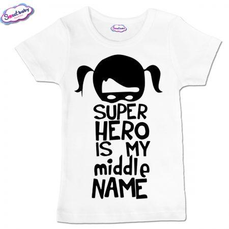 Детска тениска Super Hero в бяло