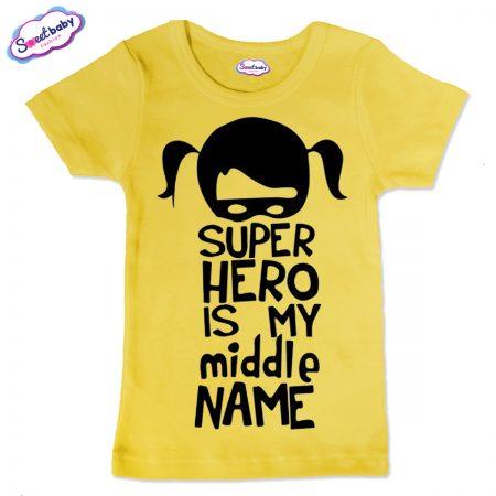 Детска тениска Super Hero в жълто