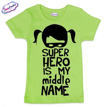 Детска тениска Super Hero в зелено