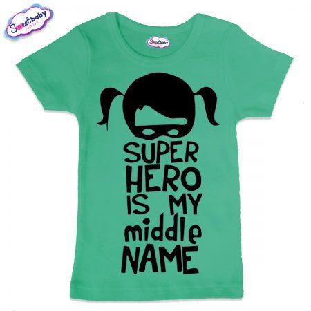 Детска тениска Super Hero в мента