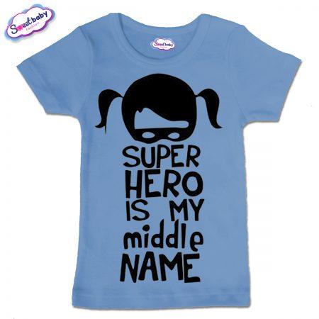 Детска тениска Super Hero в синьо