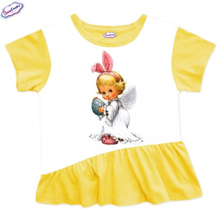Детска туника Великденско ангелче харбала жълто