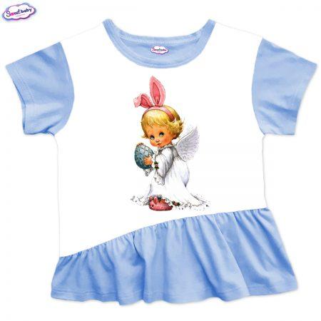 Детска туника Великденско ангелче харбала синьо
