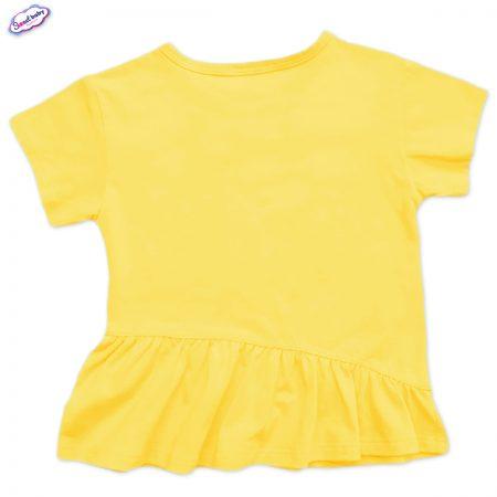 Детска туника с харбала в мента жълто