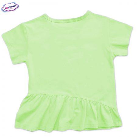 Детска туника с харбала в мента зелено
