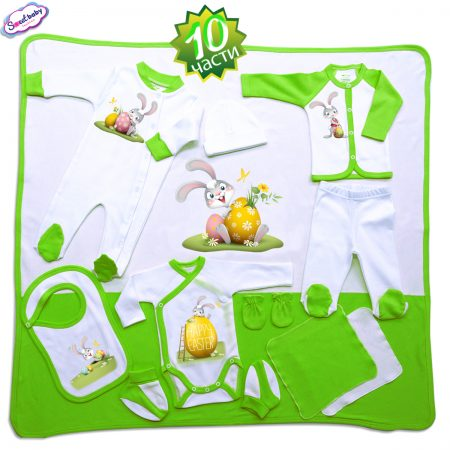 Комплект за изписване Happy Easter зайко зелено