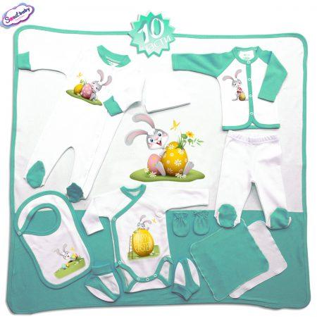 Комплект за изписване Happy Easter зайко мента