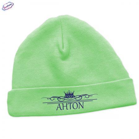 Бебешка шапчица Антон в зелено