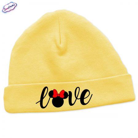 Бебешка шапчица Loove в жълто