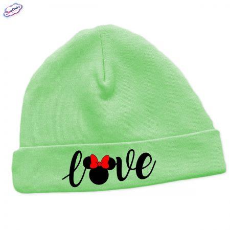 Бебешка шапчица Loove в зелено