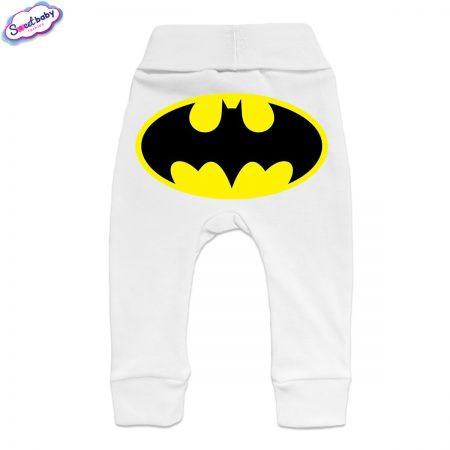 Бебешки ританки Батман маншет бяло гръб