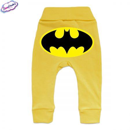 Бебешки ританки Батман маншет жълто гръб