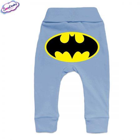 Бебешки ританки Батман маншет синьо гръб