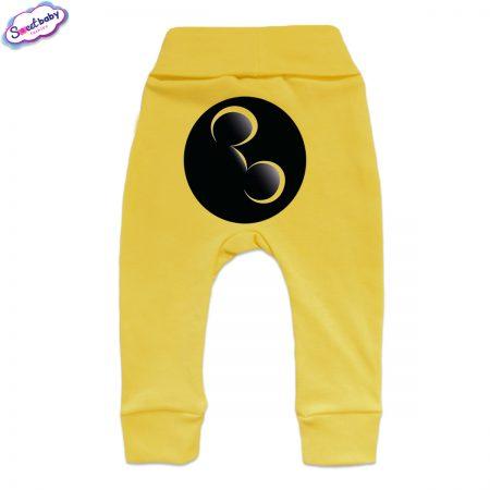 Бебешки ританки Майки маншет жълто гръб