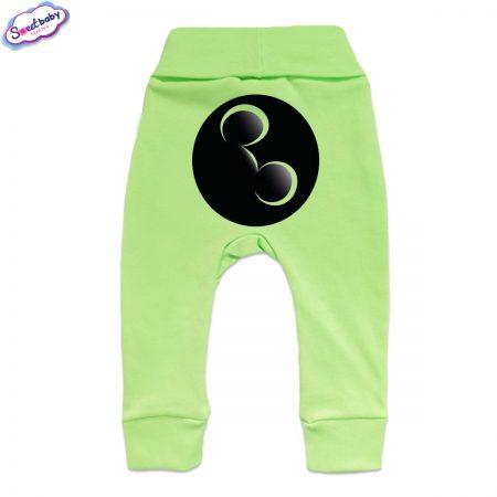 Бебешки ританки Майки маншет зелено гръб