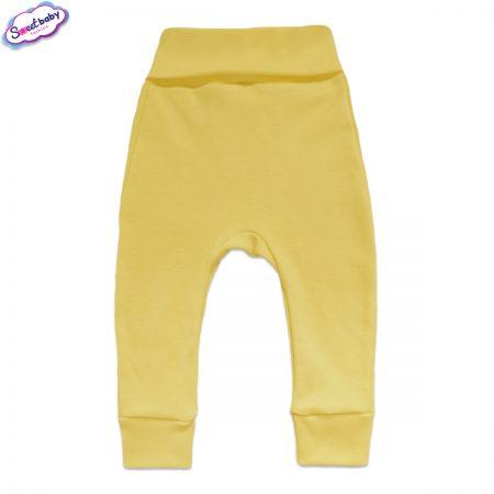 Бебешки ританки с маншети в жълто