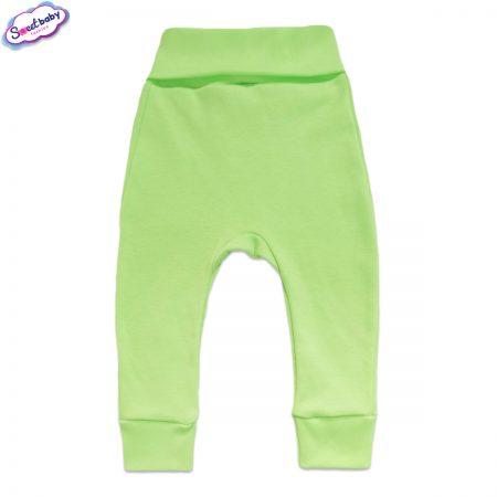Бебешки ританки с маншети в зелено