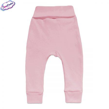 Бебешки ританки с маншети в розово