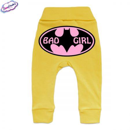 Бебешки ританки BadGirl маншет жълто гръб
