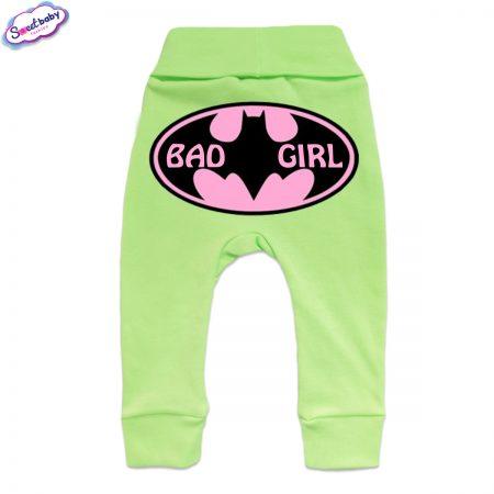 Бебешки ританки BadGirl маншет зелено гръб