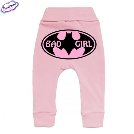 Бебешки ританки BadGirl маншет розово гръб