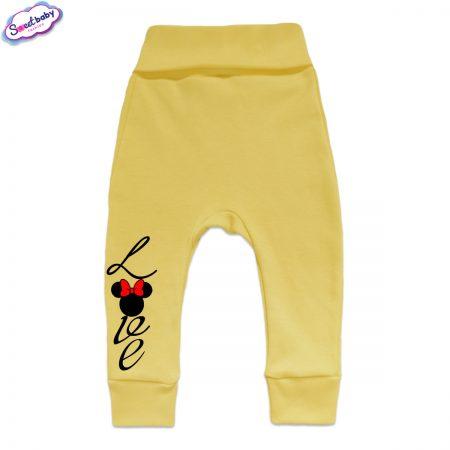Бебешки ританки Loove с маншети жълто