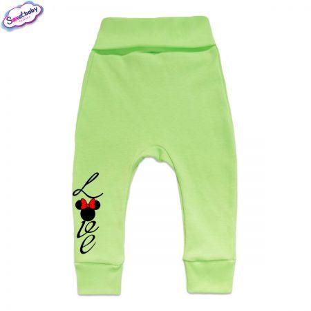 Бебешки ританки Loove с маншети зелено