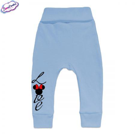 Бебешки ританки Loove с маншети синьо