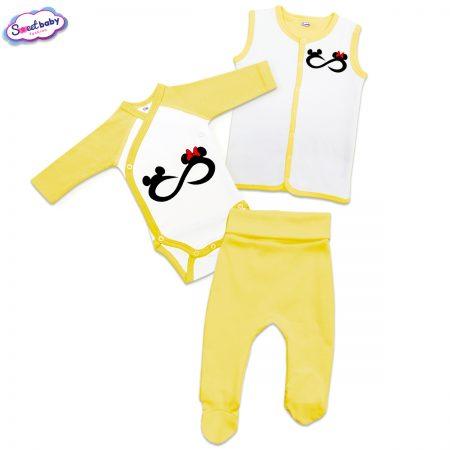 Бебешки сет Мики безкрайност в жълто