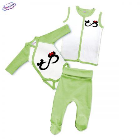 Бебешки сет Мики безкрайност в зелено