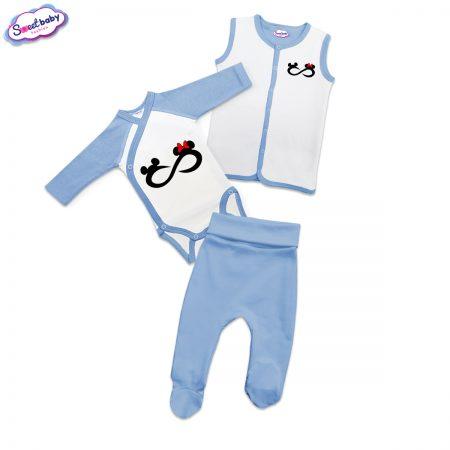 Бебешки сет Мики безкрайност в синьо