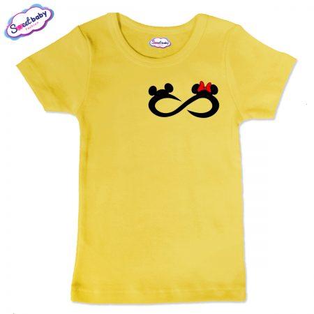 Детска тениска Мики безкрайност в жълто