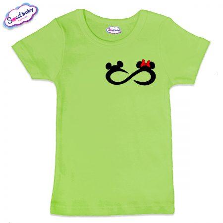 Детска тениска Мики безкрайност в зелено