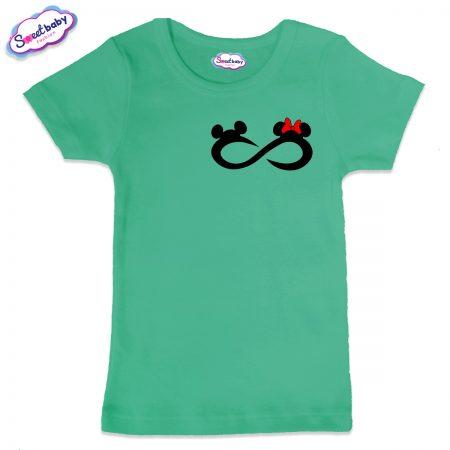 Детска тениска Мики безкрайност в мента