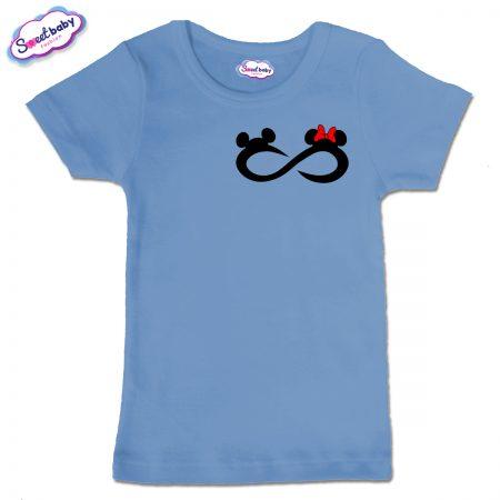 Детска тениска Мики безкрайност в синьо