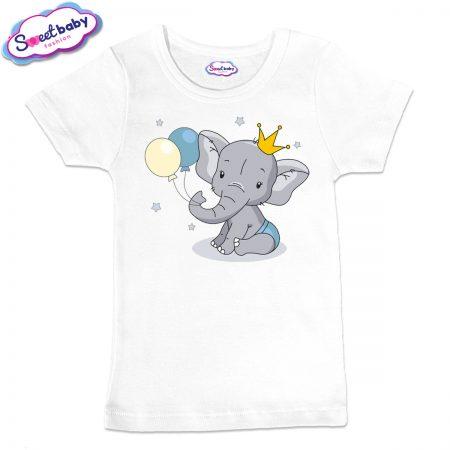Детска тениска Слонче с коронка